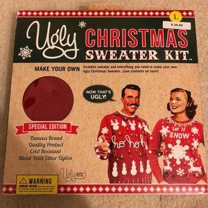 Ugly Christmas sweater kit, large